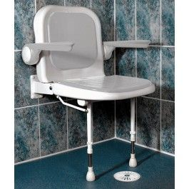 padded shower seat with back and arms shower seat arms and