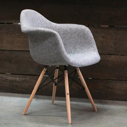 Eames Style Fabric Molded Armchair