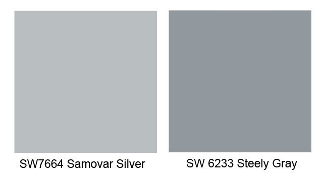 Pin By Trish Sucher On Bathroom Remodel In 2020 Gray Paint Colors Sherwin Williams Accent Wall Paint Colors Silver Grey Paint