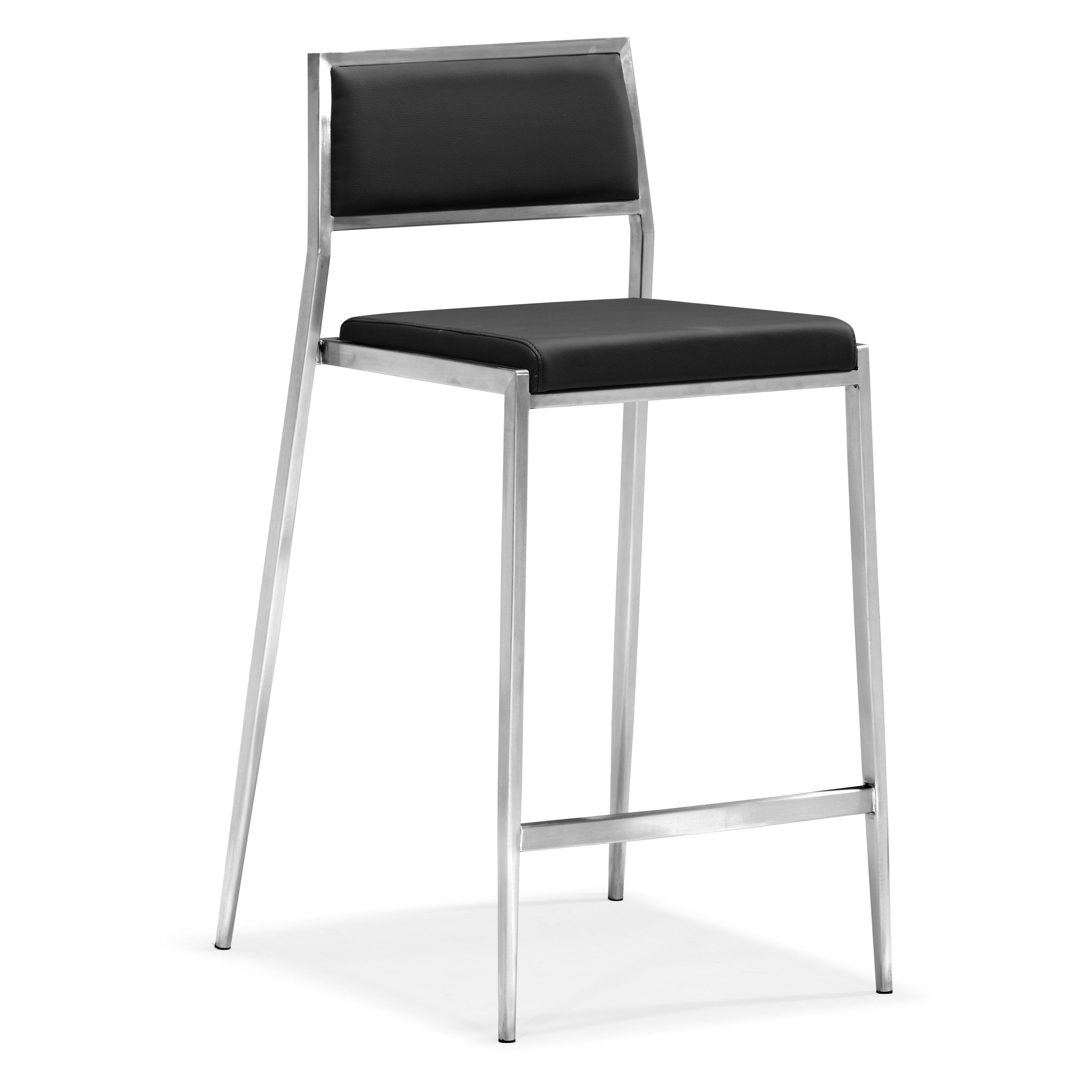 Admirable Zuo Modern Dolemite Counter Stool Set Of 2 White Kitchen Creativecarmelina Interior Chair Design Creativecarmelinacom