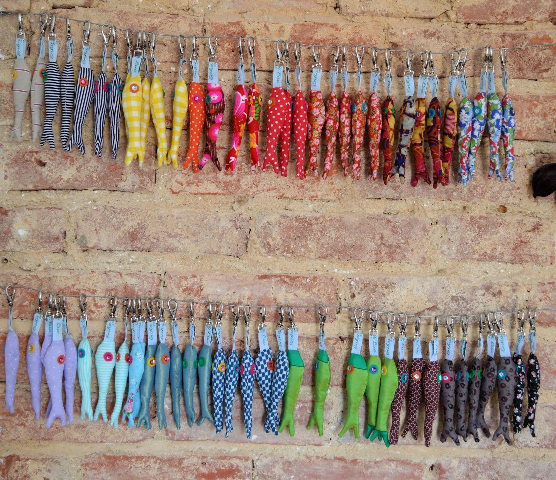 Fabuleux Porte-clés sardines en tissu pour un mariage : Porte clés par  EX02
