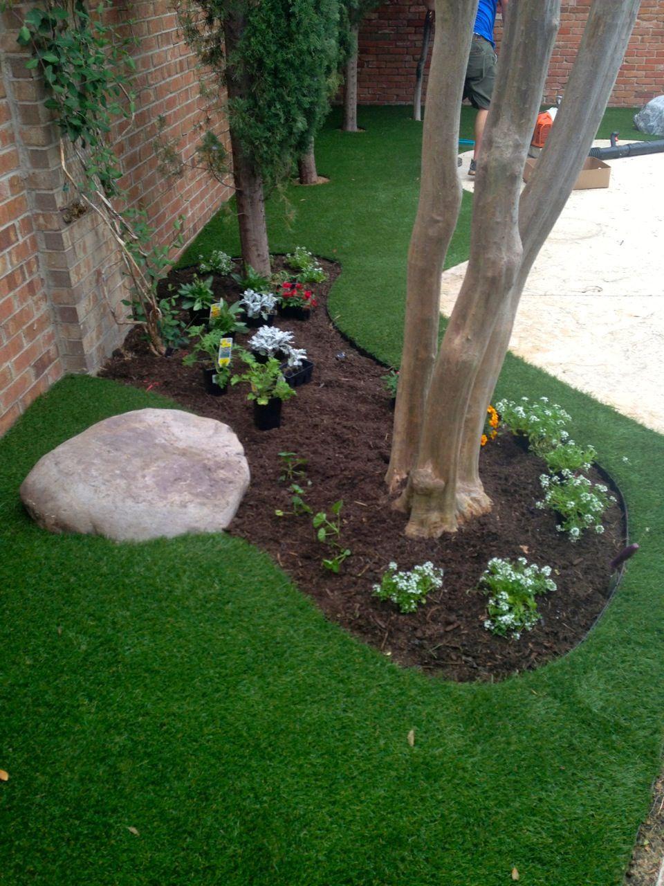 artificial grass installation in addison texas elite landscaping