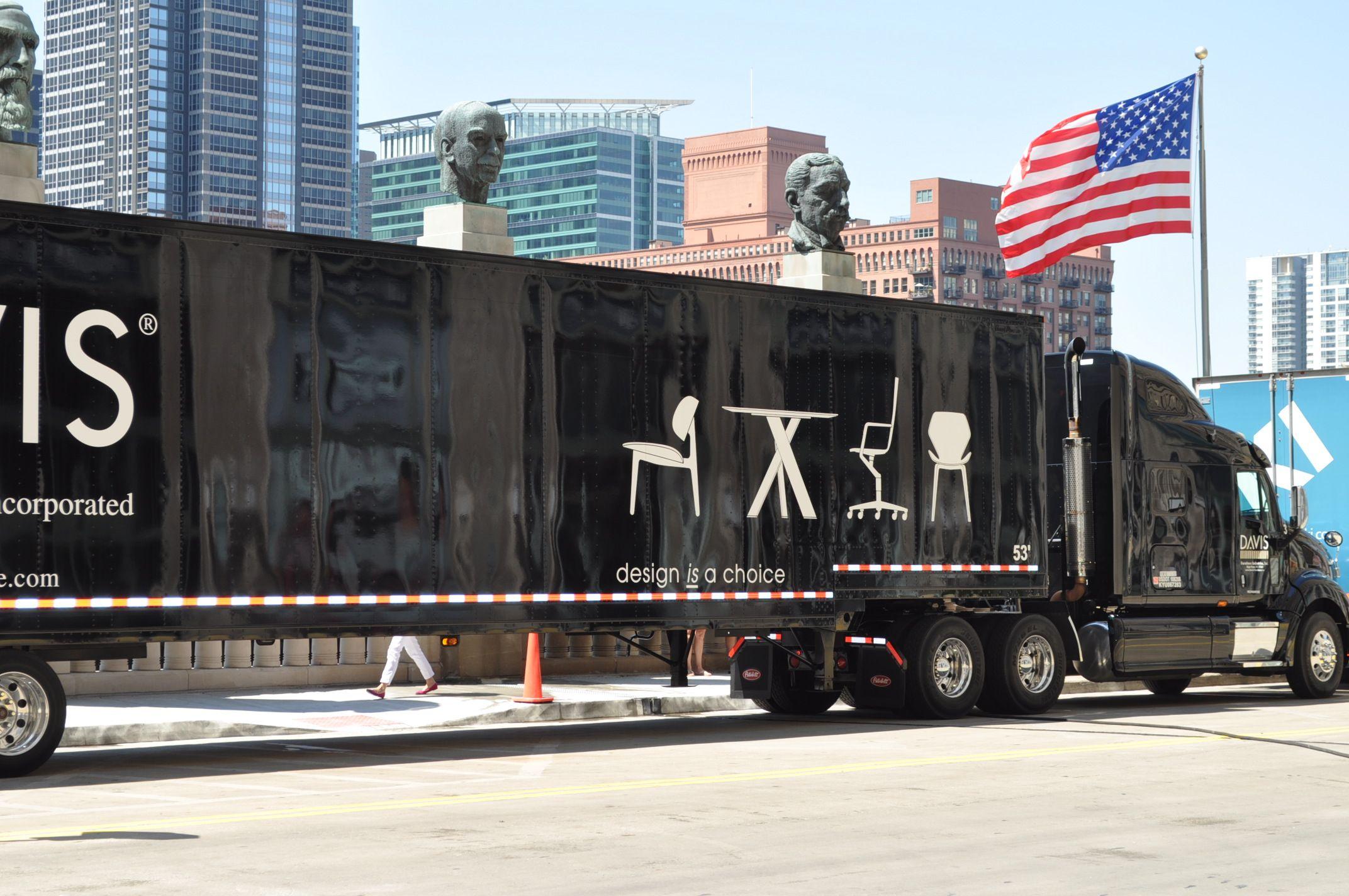 Davis Furniture Truck outside the Merchandise Mart during NeoCon12