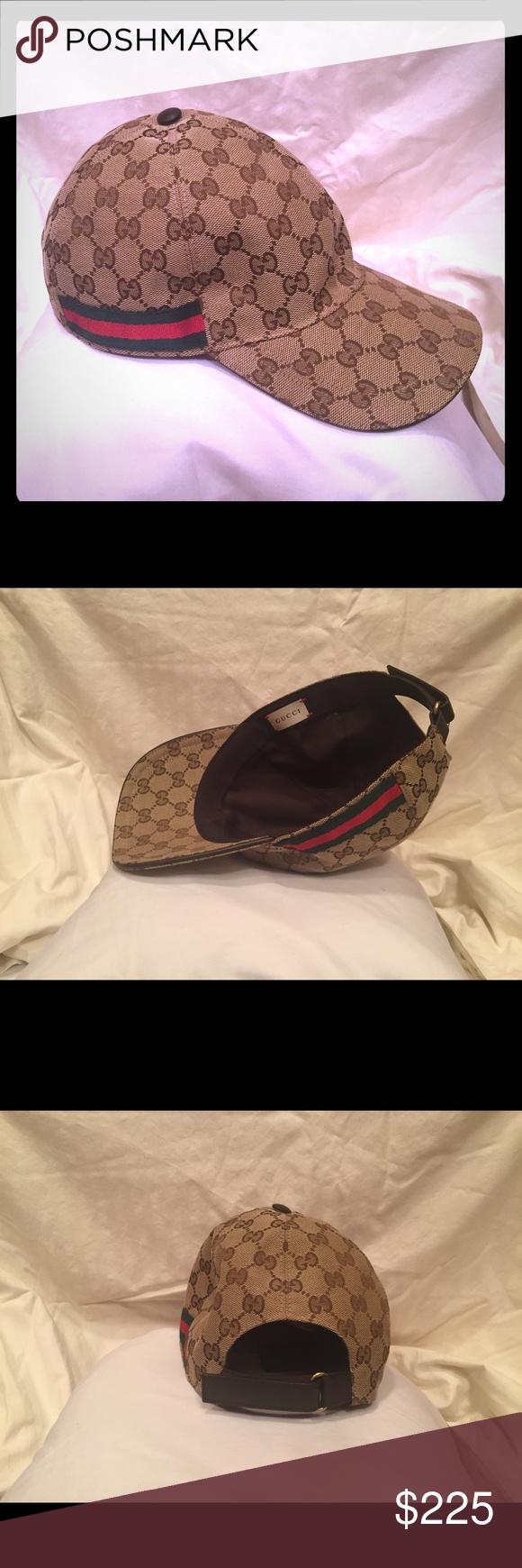 334e556dfef Original GG Canvas Baseball Cap with web Men s excellent condition like new Gucci  Accessories Hats
