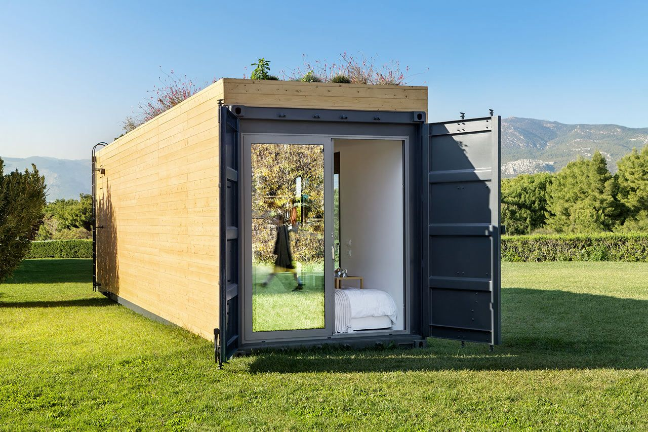 Live That Luxe Life In A Shipping Container From Cocoon Modules Design Milk Container House Container House Design Container Architecture