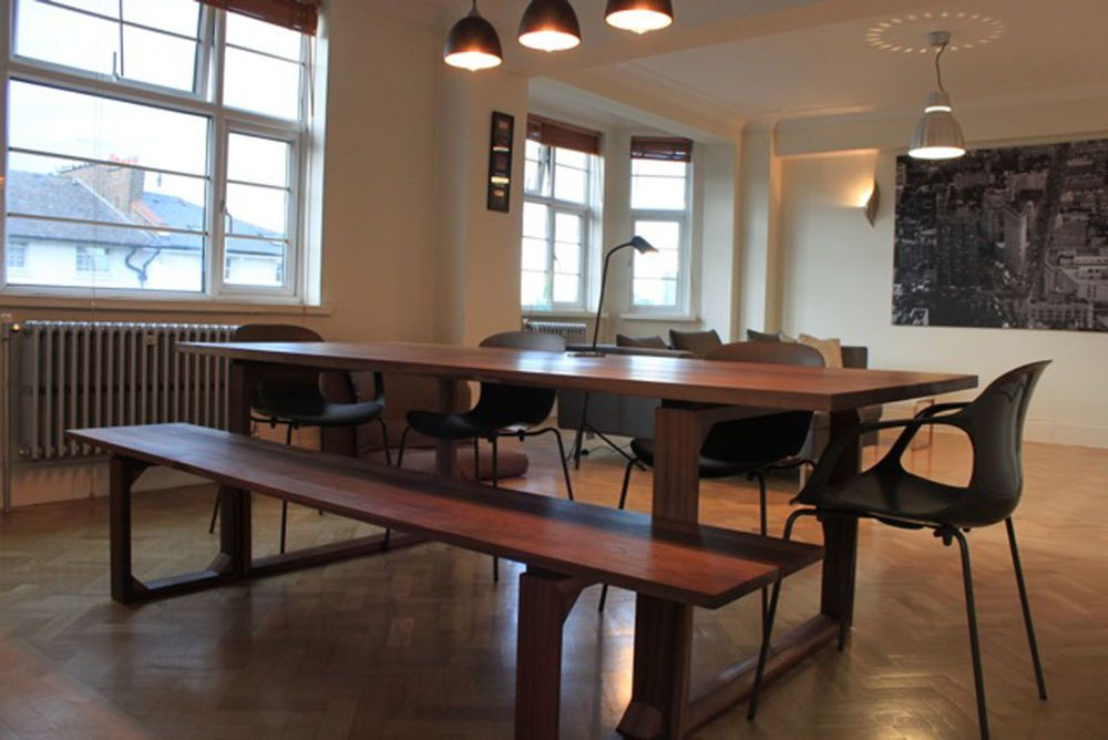 Distinctive Handmade Bespoke Solid American Black Walnut Dining