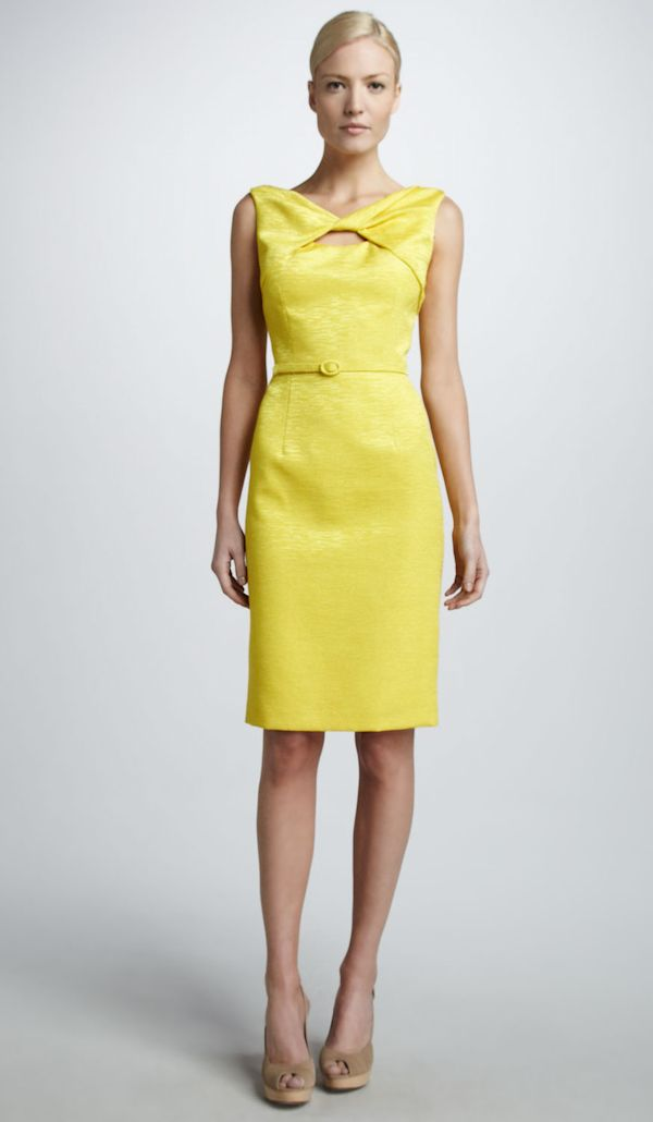 Yellow Cocktail Bridesmaid Dress | Bridesmaid Dresses | Pinterest ...
