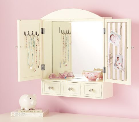 Pottery Barn Kids Jewelry Armoire Armoires Perfect place and Wall