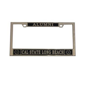 Long Beach State Alumni Csulb Chrome License Frame Chrome R D License Frames Long Beach Long Beach State