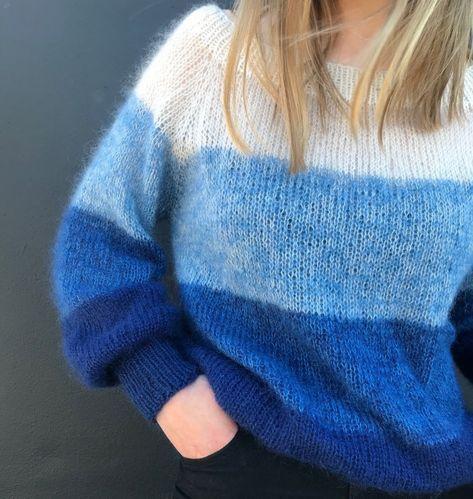 Photo of Free Knitting Pattern für einen Fade Bluse Sweater. Übergroße Pullover Muster mit …