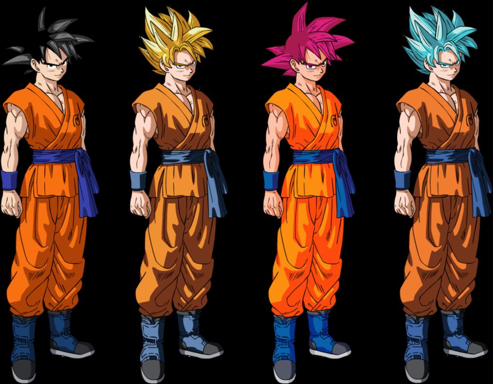 Goku Super Sayayin Dios Azul Para Colorear: Dragon Ball Z, GT, SUPER, AF, HEROES