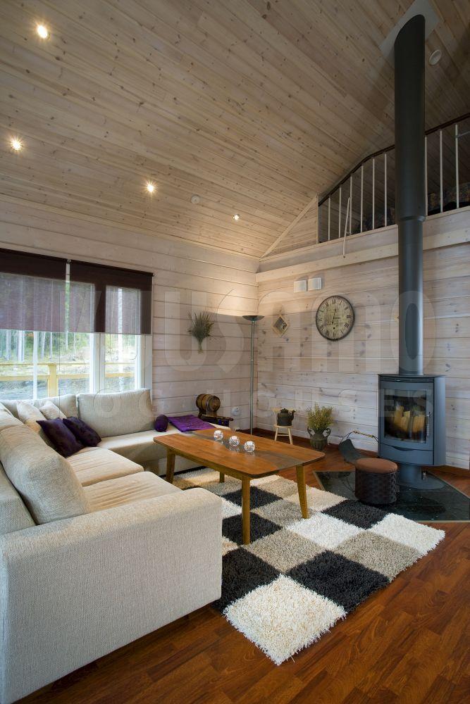 Casa de madera kuusamo log houses modelo humppila sal n - Chimeneas de madera ...