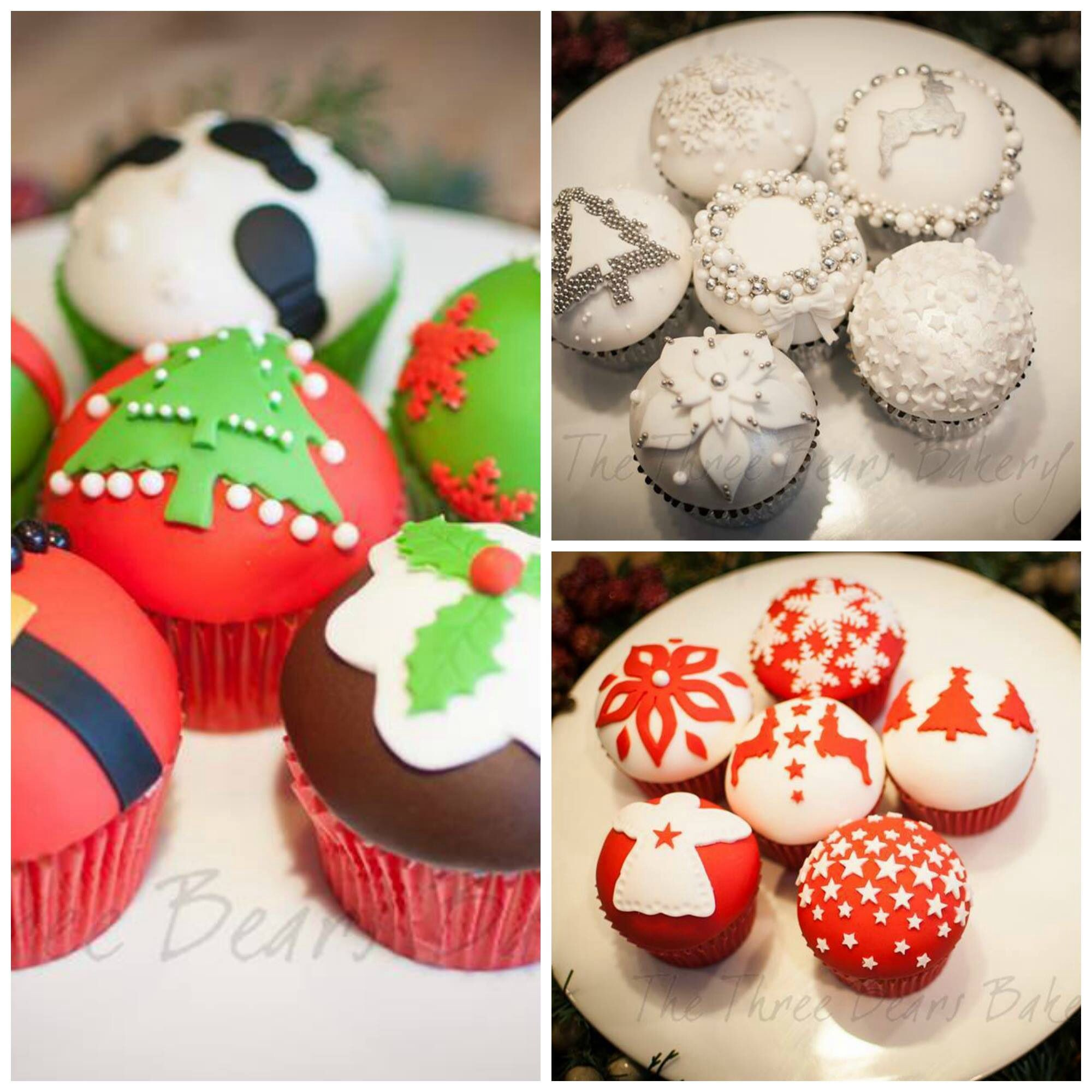 Christmas cupcakes CAKE DECORATING