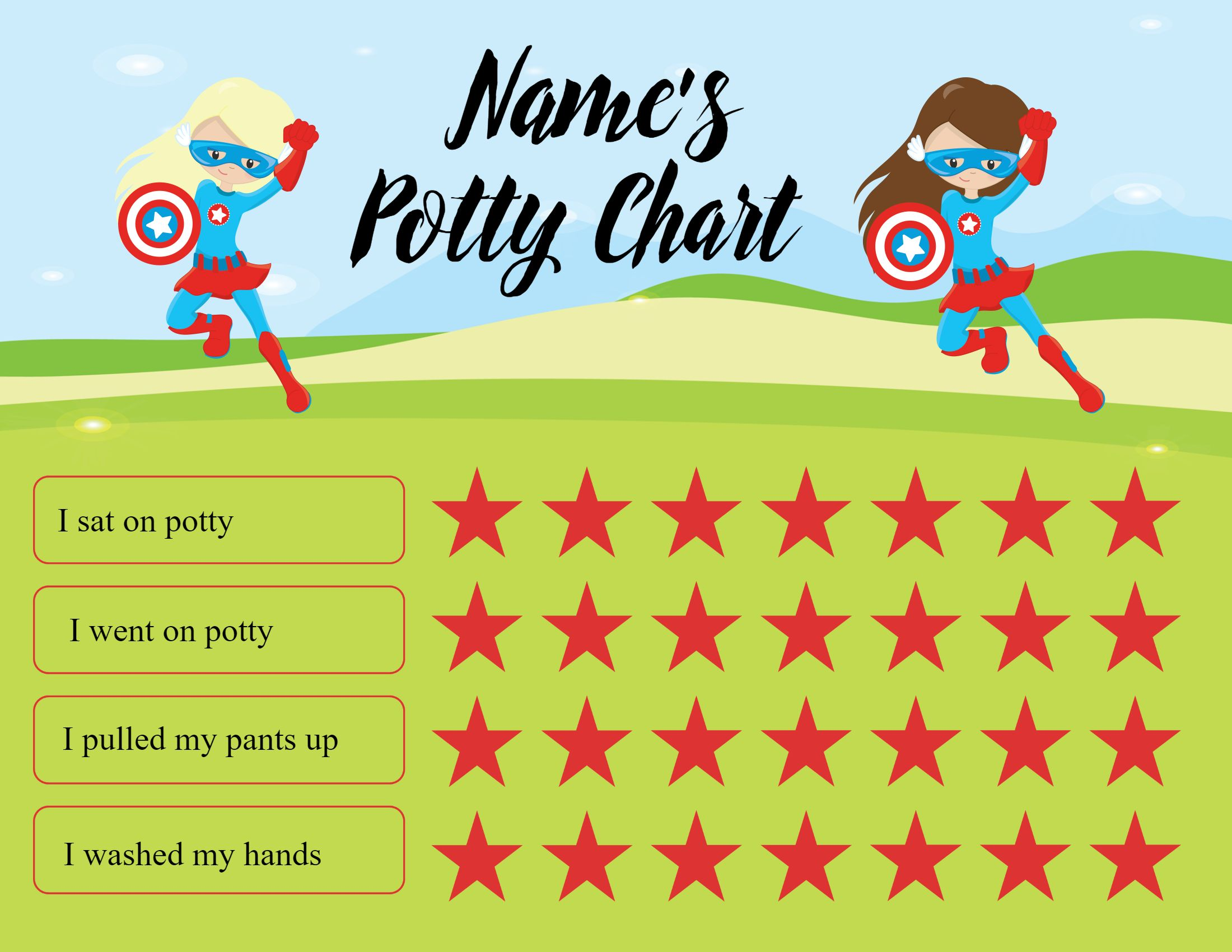 Potty Chart Ideas