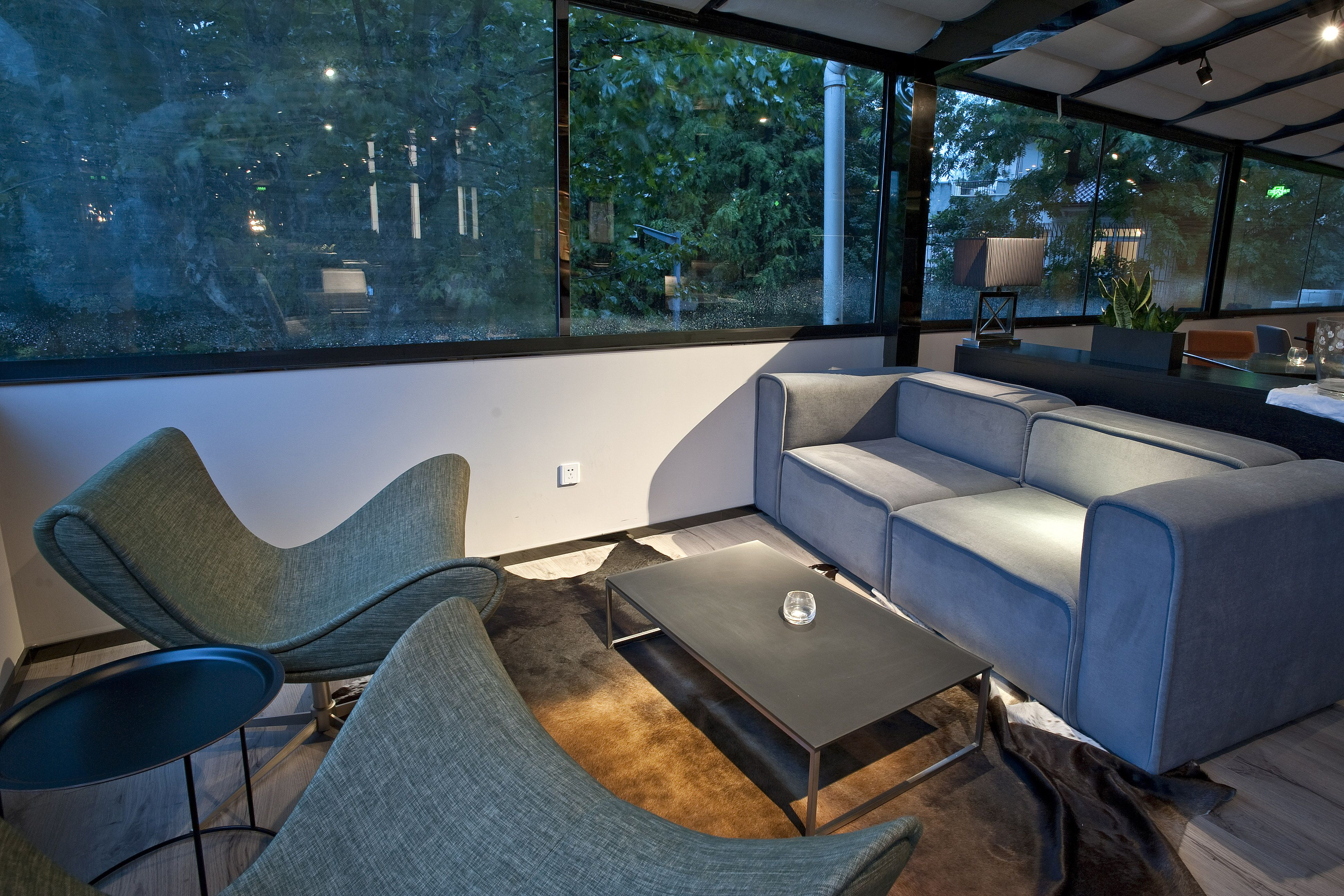 BoConcept Carmo sofa and Imola chairs in Muse VIP Lounge Shanghai