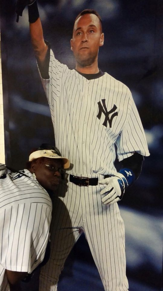 Kiddy kissy for my JETER! ⚾️❤️❤️