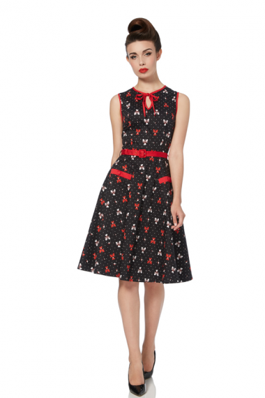 Kleding :: A-lijn kleedjes :: A-lijn jurk met bowlingprint - Voodoo Vixen