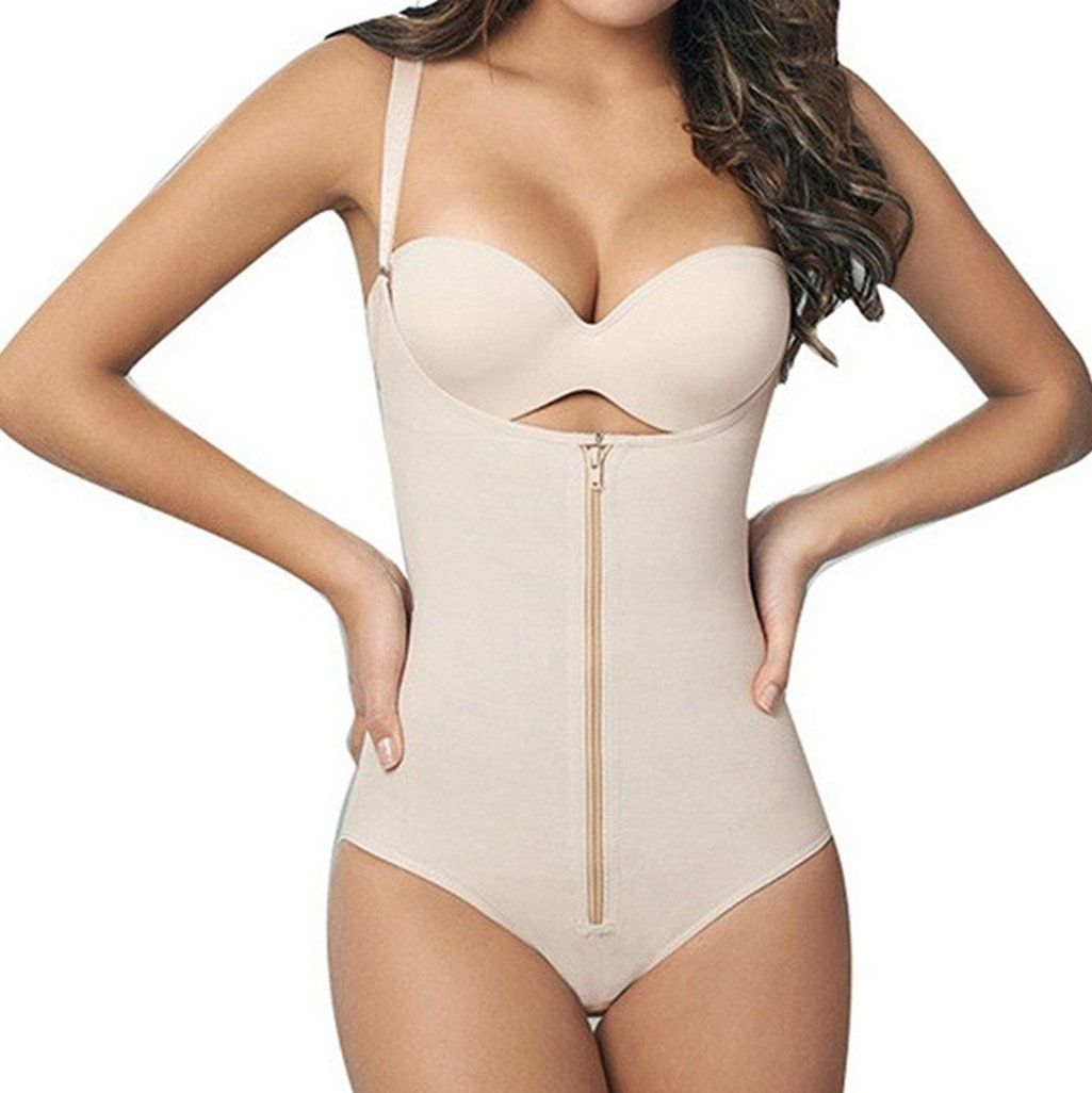 e7752ac619 UMAC Womens Full Body Shaper Waist Trainer Underbust Corset Cincher Open  Bust Shapewear Tummy Control Bodysuit     Details can be found by clicking  on the ...