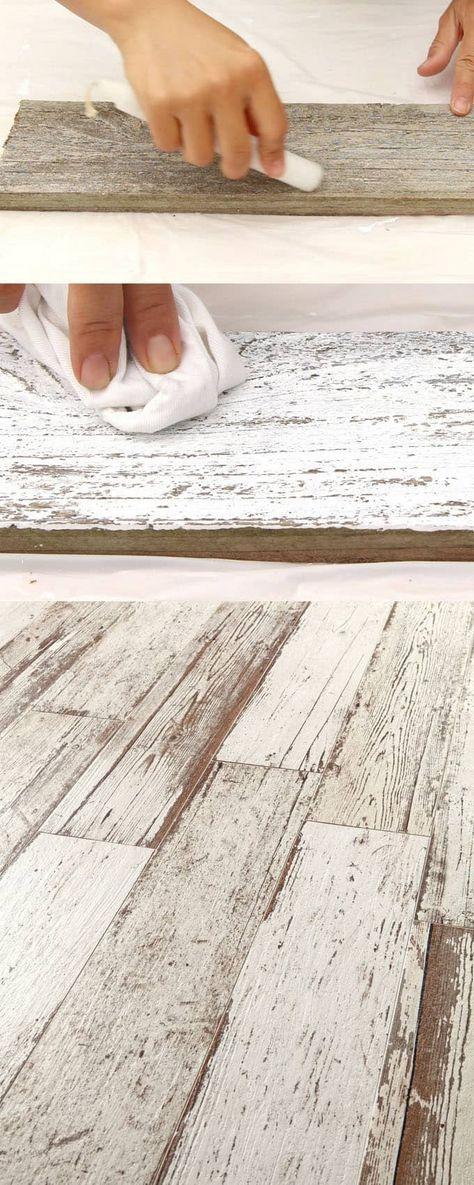 How To Whitewash Wood In 3 Simple Ways White Washed Floors Wood Diy Whitewash Wood