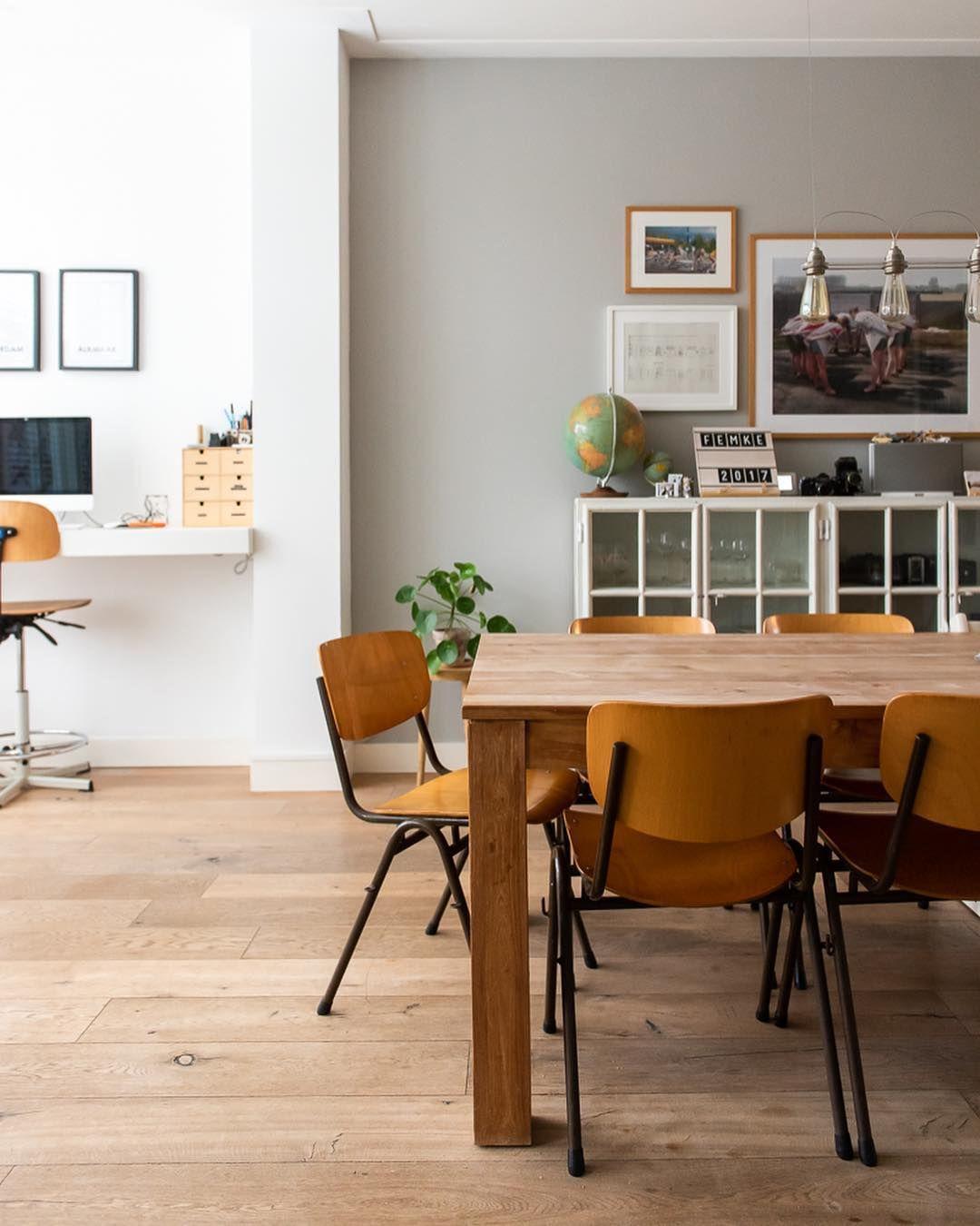 Tweedehands Design Eetstoelen.Schoolstoelen Eetkamer Diningroom Interiordesign Interior4u