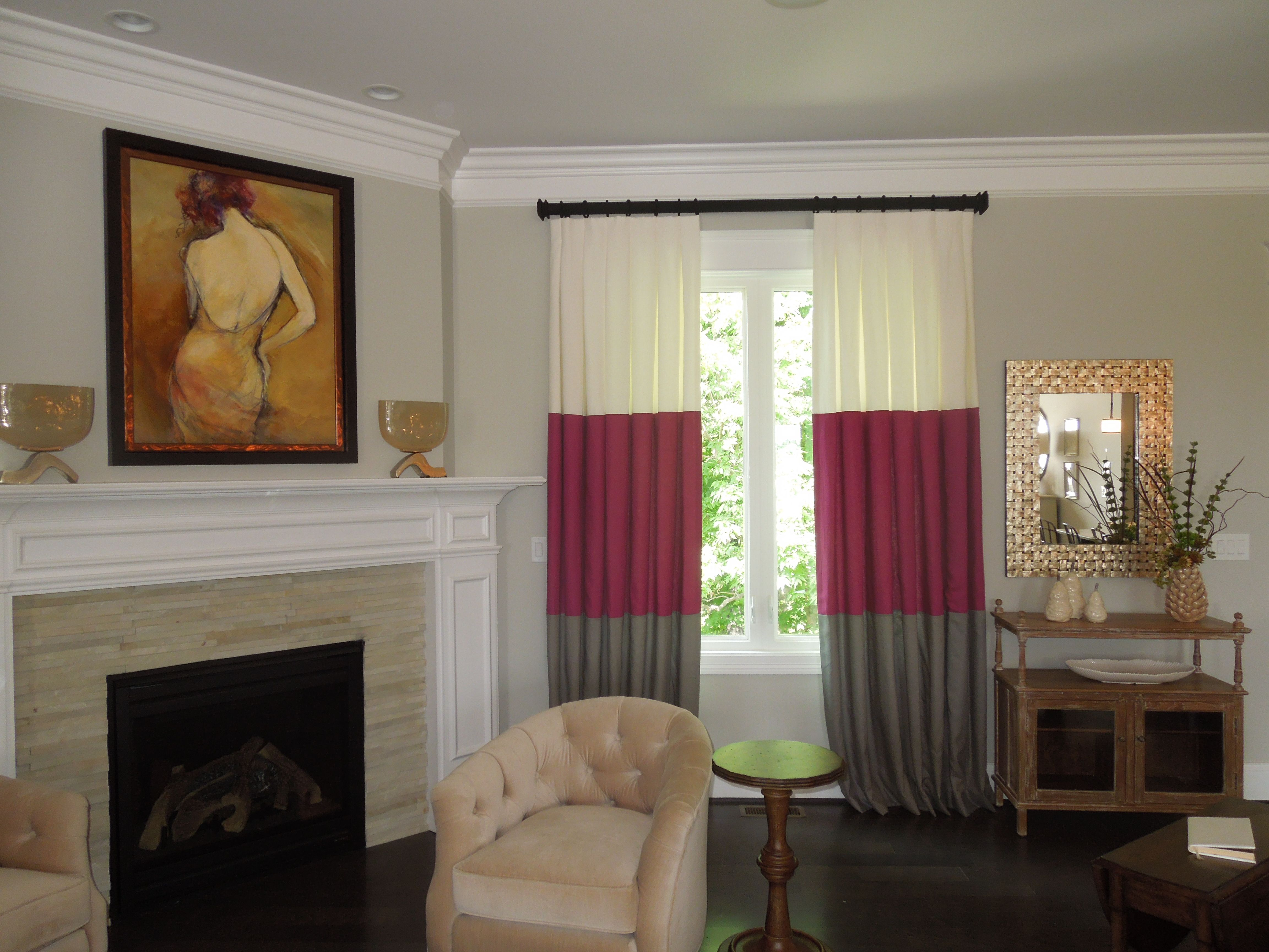 beautiful custom drapes for family room designed by draped in style