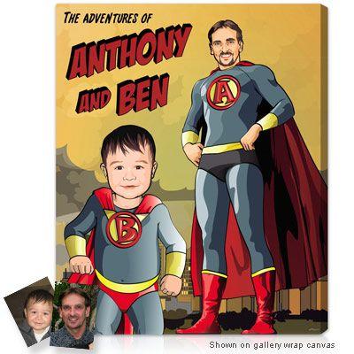 personalized superhero art .. so cute!