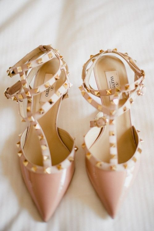Found here and there ........I love these Valentino's.  I'm dreaming of having a pair in every color made.