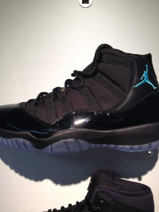 2608f181d614d7 Air Jordan XI - Black   Gamma Blue - Varsity Maize (Holiday 2013) Preview