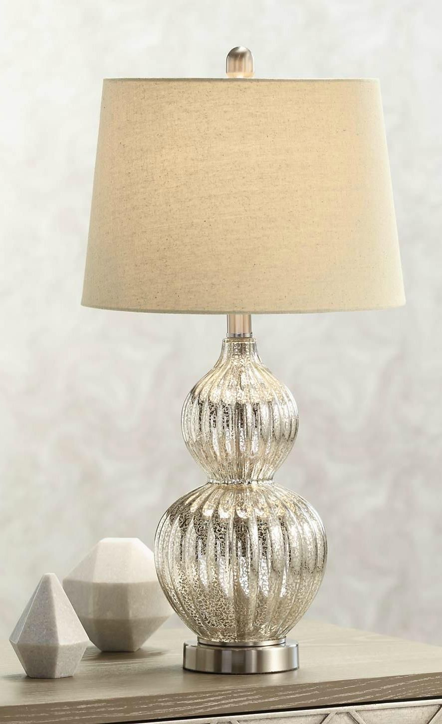 Lili Fluted Mercury Glass Table Lamp 8h816 Lamps Plus In 2020 Mercury Glass Table Lamp Lamp Table Lamp