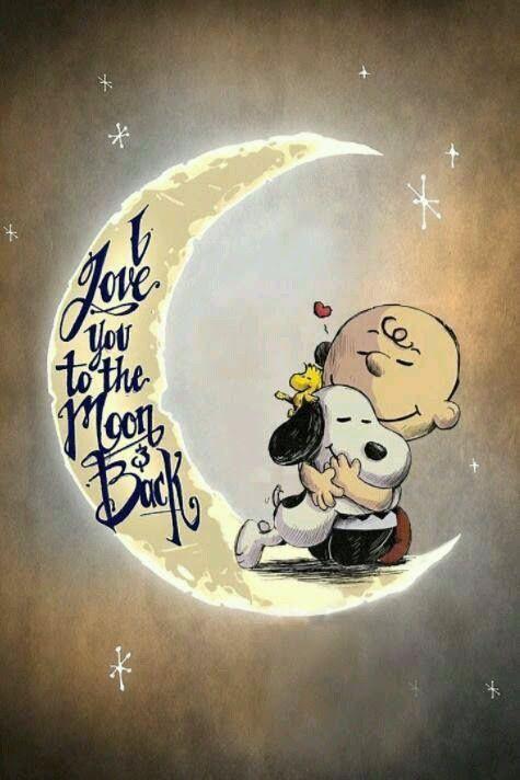 Ich liebe dich bis zum Mond und zurück ❤ I love you to the moon back