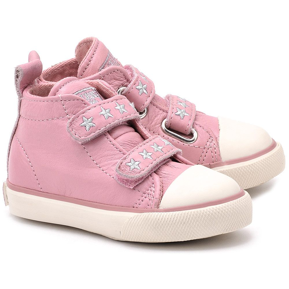 Guess Valeria Rozowe Skorzane Trzewiki Dzieciece Ft4vallea12 Pink Ft4vallea12 Pink Buty Dzieci Trzewiki I Polbuty Mivo Shoes Fashion Baby Shoes