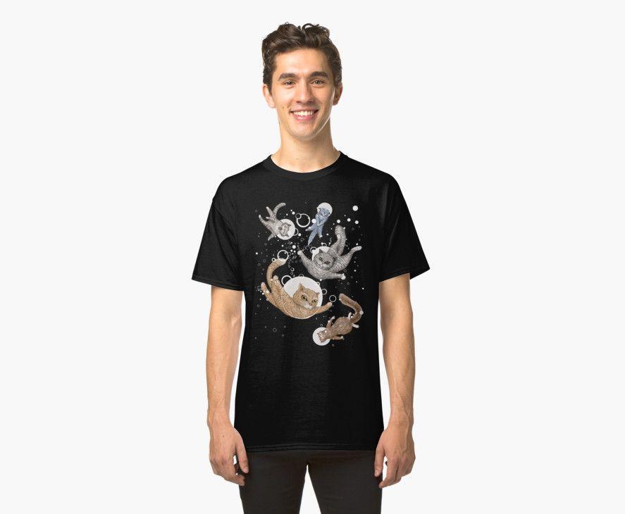 Cat Space t-shirt by Ruta Dumalakaite