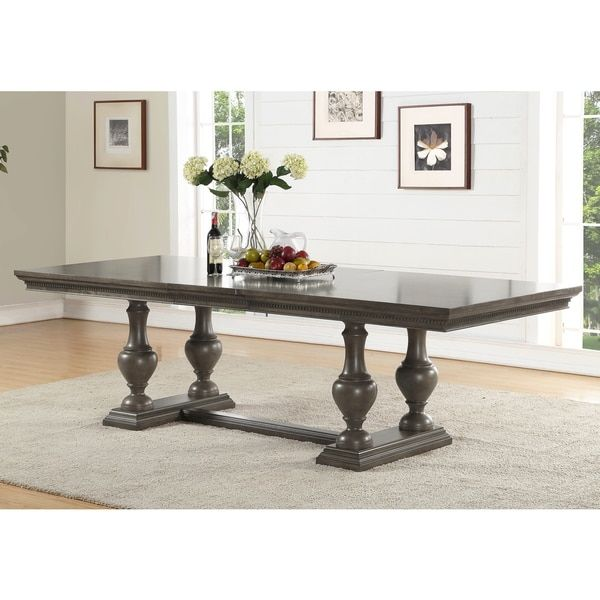 Abbyson Marseilles City Grey Rubberwood Dining Table  174 Impressive Dining Room Furniture Outlet Stores Design Inspiration