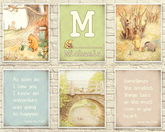 Classic Winnie The Pooh Pooh Wall Art Pooh by CreativeArtandInk ...