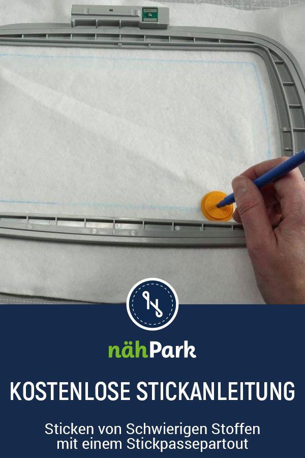 Gratis Stickanleitung zum Sticken mit der Stickmaschine.