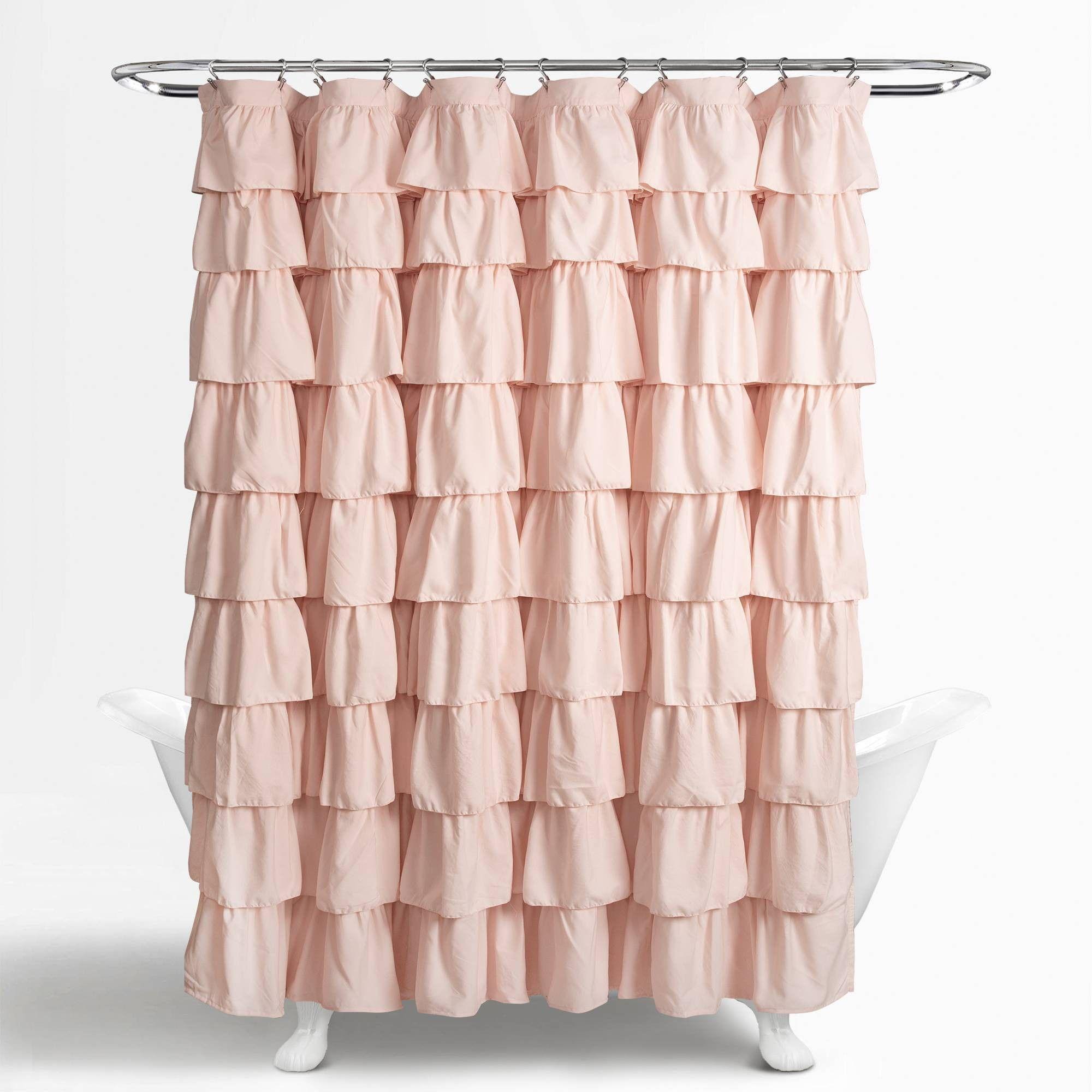 Ruffle Shower Curtain Blush Pink Lush Decor Ruffle Shower