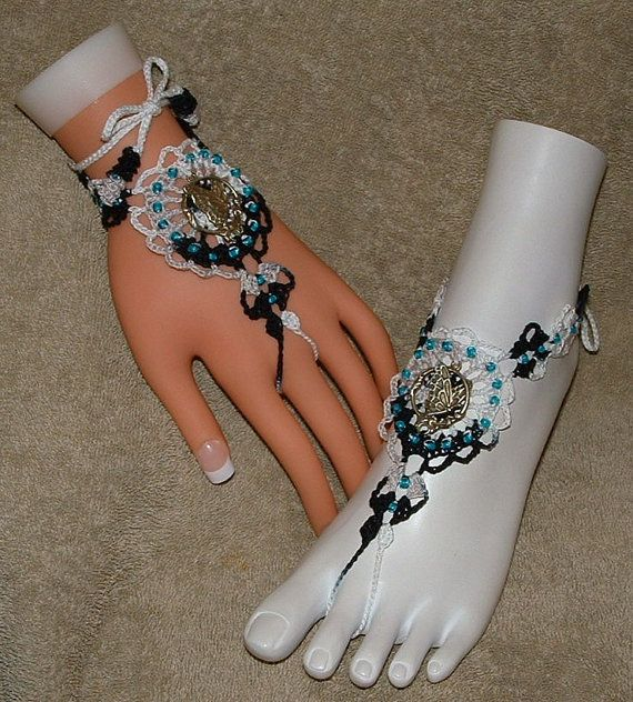 Barefoot Sandals / Slave Bracelet Rings with by gilmoreproducts33, $14.00
