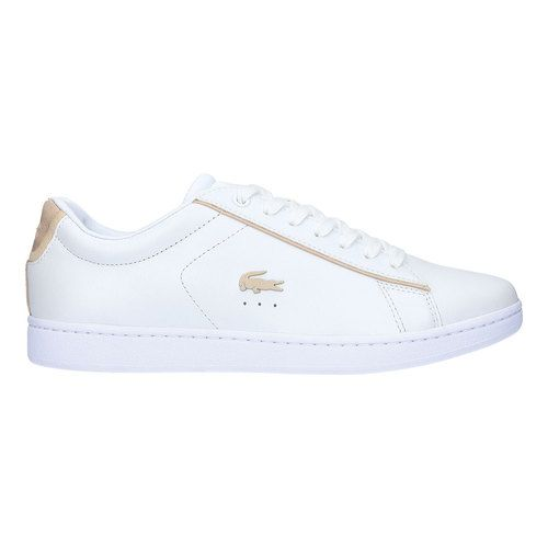e19c8e1920 Women's Lacoste Carnaby EVO Leather Sneaker - White/Gold Leather Sneakers