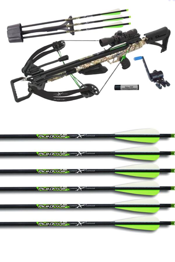 Carbon express piledriver hunter arrow, carbon express piledriver