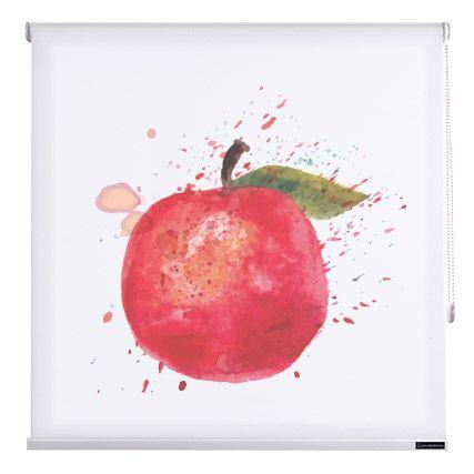 Estores cocina fruits de cortinadecor color manzana - Estores de colores ...