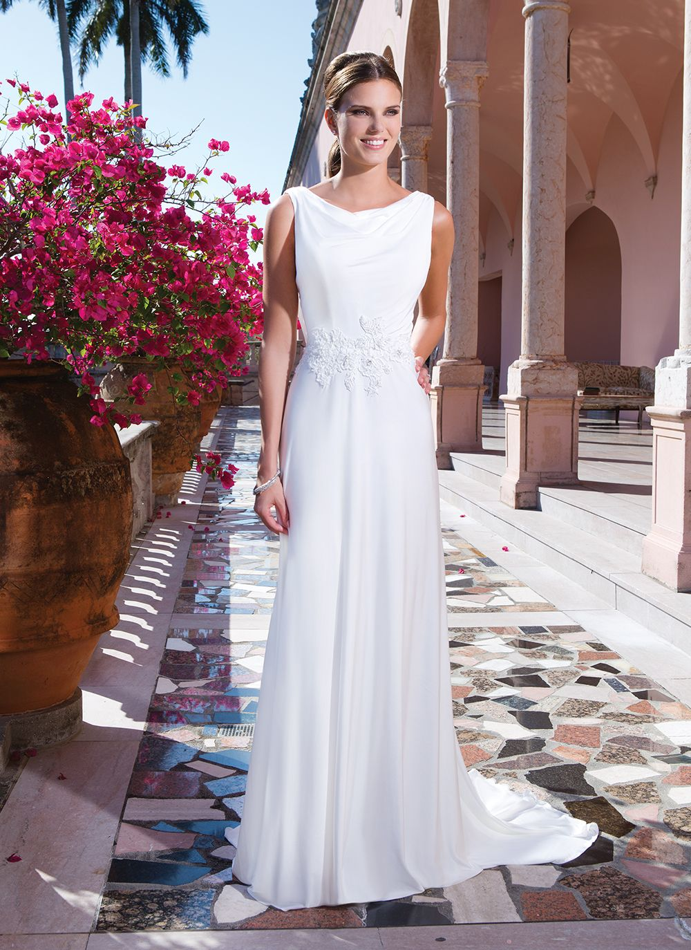 Sweetheart Gowns Style 6055 Jersey straight wedding dress