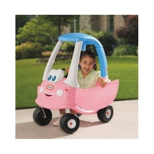 cozy pink little tikes coupe car princess toy shopping cart ride toddler pretend littletikes