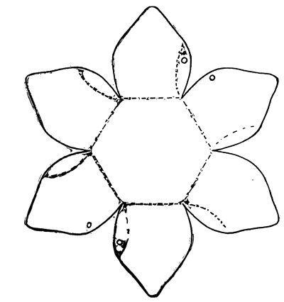 Cartamodello del cestino a forma di fiore cartamodello - Modelli di coniglietto pasquale gratis ...
