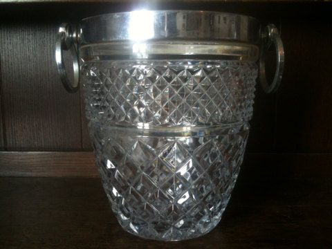 Vintage Crystal Glass Heavy Champagne Ice Bucket / by EnglishShop, £155.00