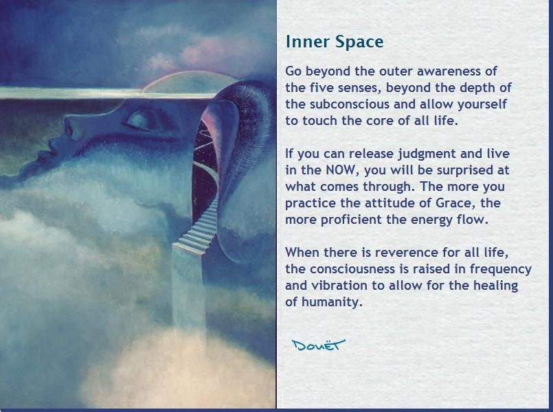 Inner Space, art and poetry by Arthur Douet, visionary.