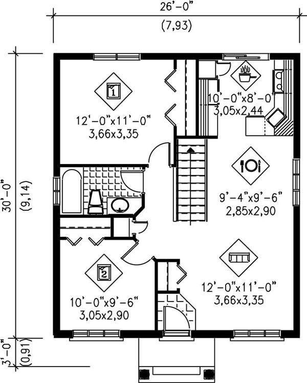 900 Square Foot House Plans Welcome Back Small House The Small House Plan Can Pack A Colonial House Plans Cottage Style House Plans House Plan With Loft