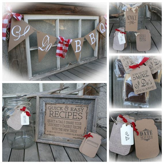 i do bbq bridal shower package favors games table decor banner 2 fun tag stations