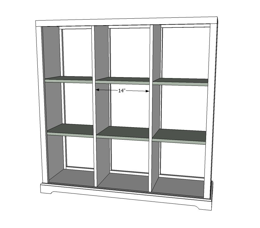 Build A Cubby Bookshelf - Large