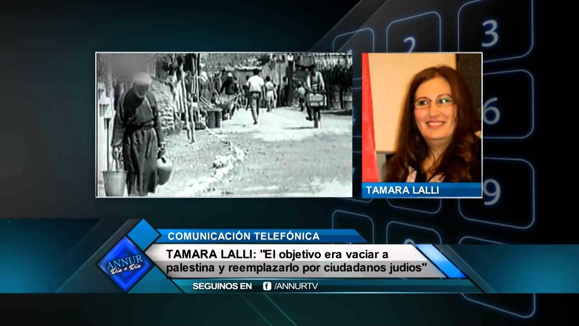 Tamara Lalli nos explica la catastrofe Palestina