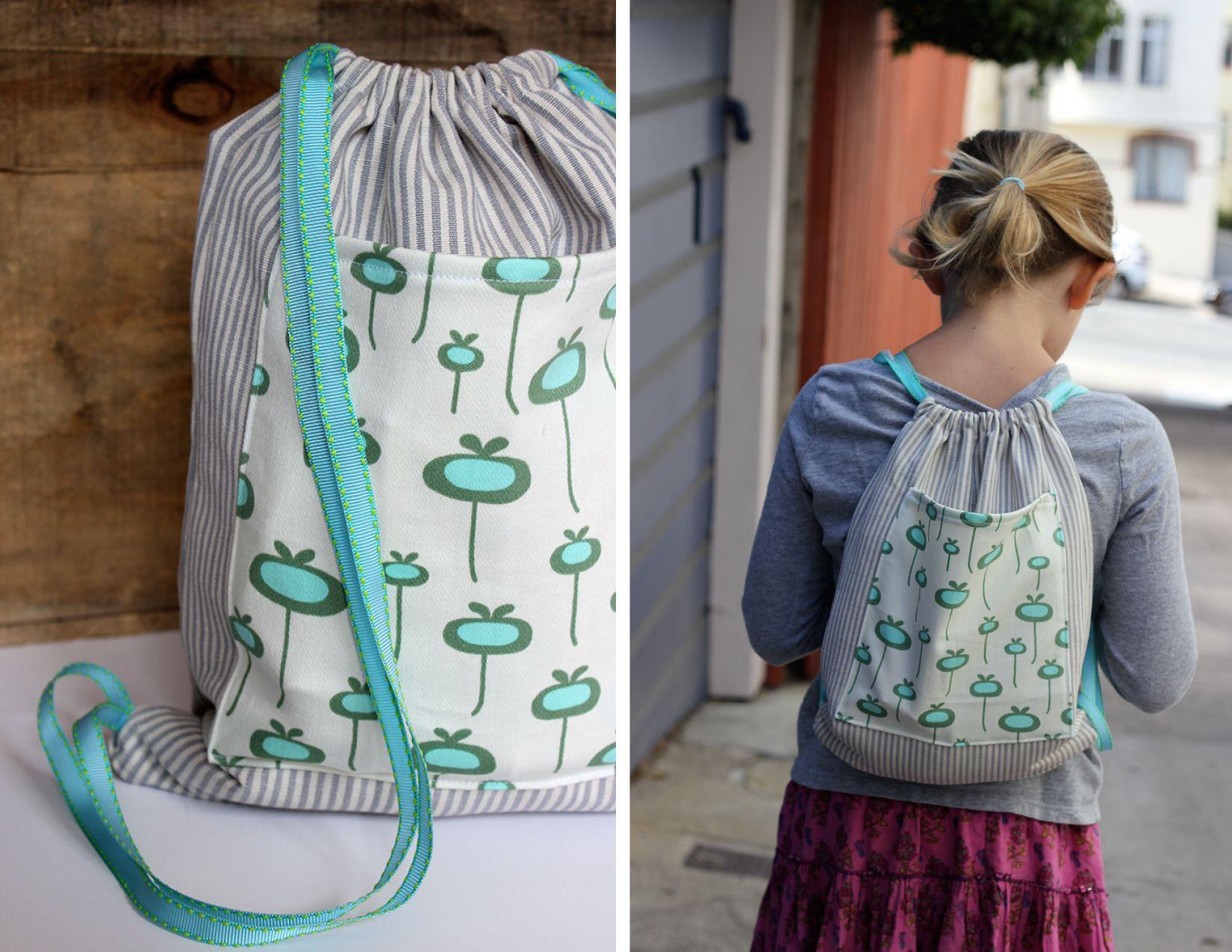 DIY Drawstring Backpack | Drawstring backpack, Backpacks and ...